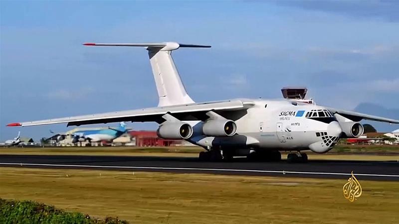 Two Russian-made Ilyushin 76 aircraft made several trips between Egypt, Israel, and Jordan before landing at air bases controlled by Haftar [Al Jazeera]