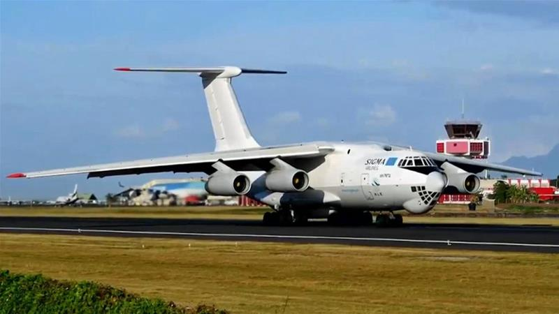 Two Ilyushin 76 aircraft made several trips between Egypt, Israel, and Jordan before landing at air bases controlled by Haftar [Al Jazeera]
