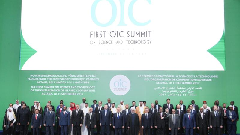 OIC leaders and representatives pose for a group photo during the Kazakhstan Summit summit two years ago [File: Reuters]