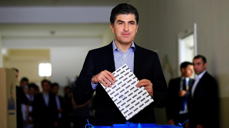 Nechirvan Barzani is the second person to hold the office of president for the semi-autonomous Kurdish region of Iraq [File: Thaier Al-Sudani/Reuters]