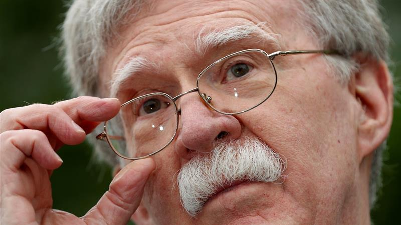 Bolton says Iranian mines likely used in UAE oil-tanker attacks