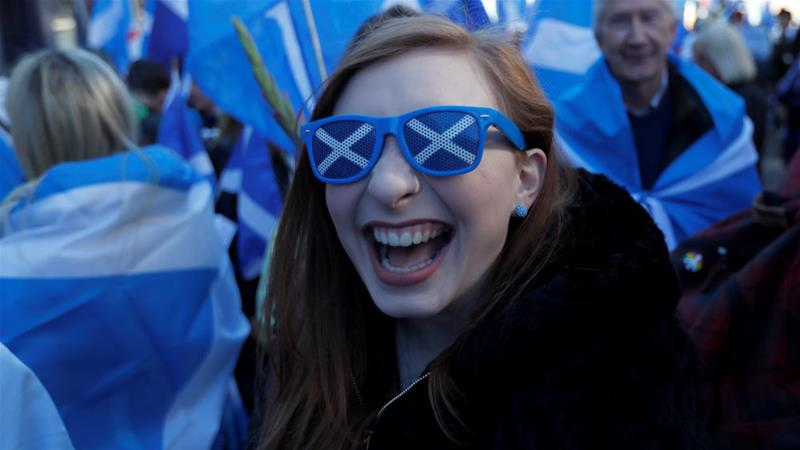 Independence campaigners have held frequent rallies in Scotland [Russell Cheyne/Reuters]