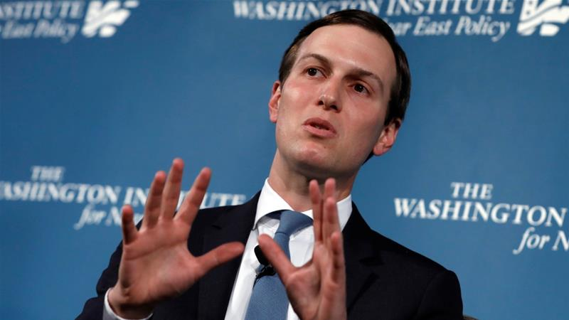 Kushner gave the administration's strongest indication yet that the plan will not propose two states for Israelis and Palestinians [Yuri Gripas/Reuters]