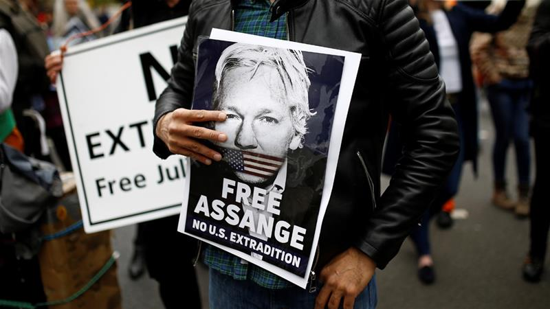 Melzer said he was 'gravely concerned' that Assange would face a 'politicised show trial' in the US [File: Henry Nicholls/Reuters]
