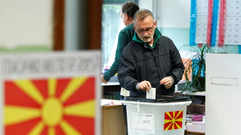 Polls close in North Macedonia's presidential runoff election