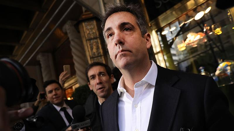 Michael Cohen, the former personal lawyer to President Donald Trump, departs his Manhattan apartment for prison [Spencer Platt/Getty Images/AFP]