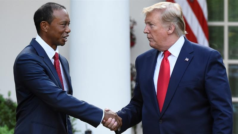 Tiger Woods receives Presidential Medal of Freedom from Trump | News