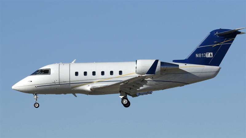 In a statement, Canada's Bombardier Inc identified the jet as a Challenger 601, similar to this plane [File: AP Photo]