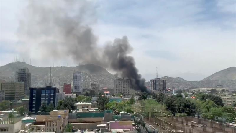 The explosion shook an upscale area of the Afghan capital on the third day of the Muslim holy month of Ramadan [Reuters]