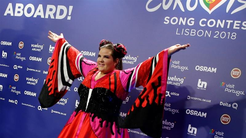 Israel is set to host the upcoming Eurovision Song Contest after singer Netta, representing Israel, won the competition in 2018 [Pedro Nunes/Reuters]