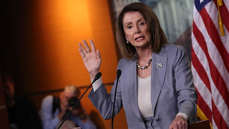 US Speaker of the House Nancy Pelosi answers questions during a press conference at the US [Win McNamee/Getty Images/AFP]