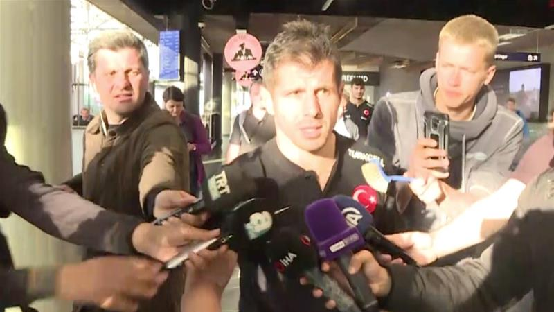 Captain Emre Belezoglu slammed Icelandic authorities after the team was searched 'from head to toe' [Anadolu]