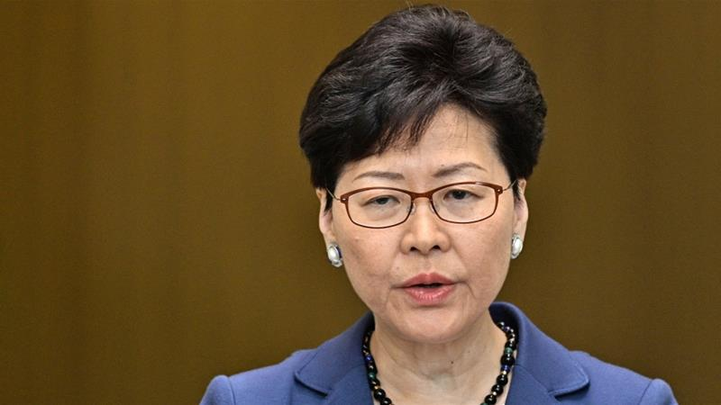 Hong Kong Chief Executive Carrie Lam has denied taking direction from Beijing over the proposed amendments [Anthony Wallace/AFP]