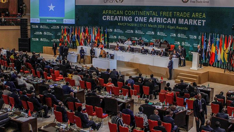 Nigeria promises to  sign a continental free-trade deal at the next summit of the African Union  [File: Jean Bizimana/Reuters]