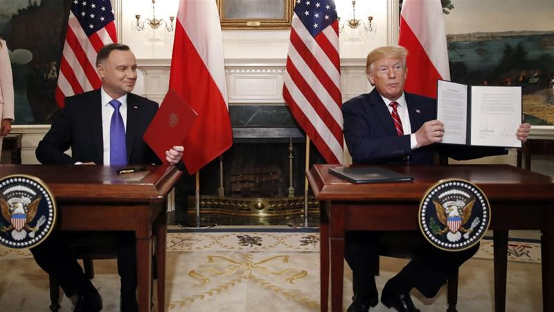 The two countries also agreed on new energy deals, which will see Poland buy more US gas [Alex Brandon/AP Photo]