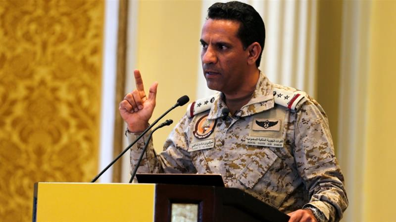 The coalition spokesman, Colonel Turki al-Malki, says Houthi fighters targeted civilians [Hamad I Mohammed/Reuters]