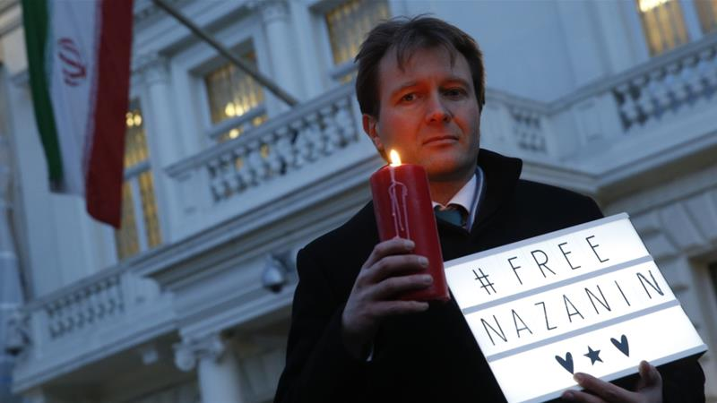 Richard Ratcliffe, Nazanin's husband, told judicial officials she will refuse food until she is granted 'unconditional release' [File: Alastair Grant/AP Photo]