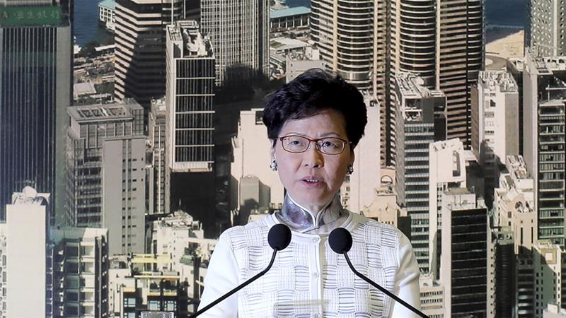 Hong Kong's Chief Executive Carrie Lam said there were 'inadequacies' in the bill [Kin Cheung/AP]
