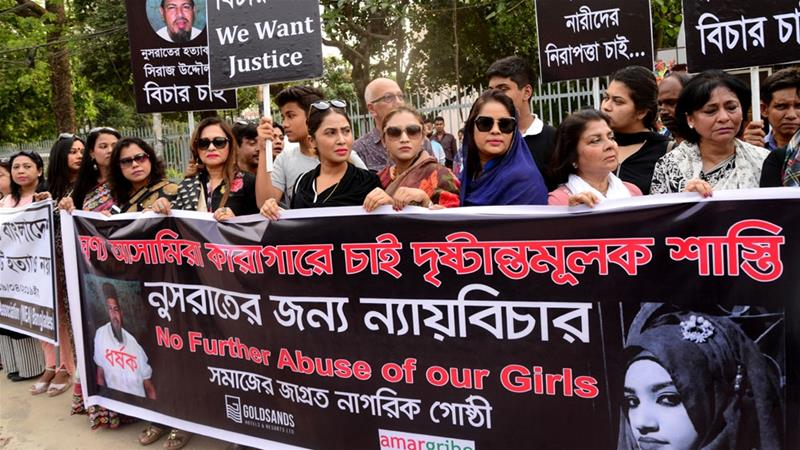 The killing of Nusrat Jahan Rafi in April sparked protests across the South Asian nation [Mamunur Rashid/Getty]