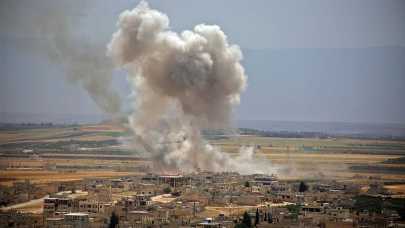 Fighting in rebel-controlled Idlib province has escalated since the end of April [Anas al-Dyab/AFP]