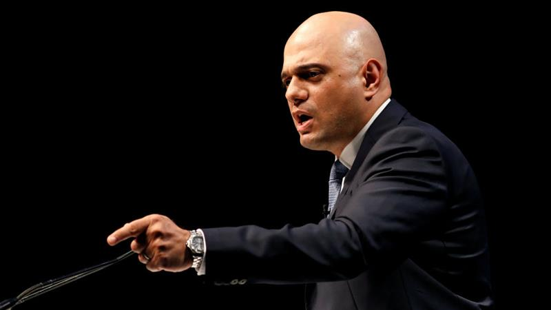 Home Secretary Sajid Javid has built a reputation around a hard-line approach to immigration [Russell Cheyne/Reuters]