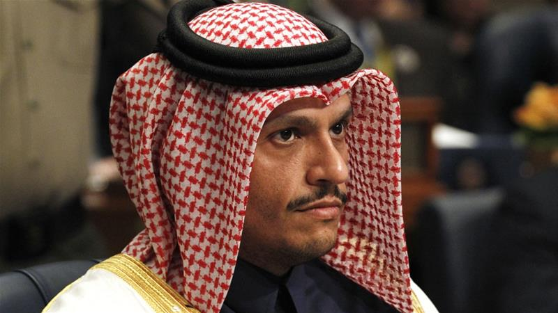 The Qatari foreign minister questioned the unity called for by neighbouring countries amid an ongoing blockade against the Gulf country [Jon Gambrell/AP]
