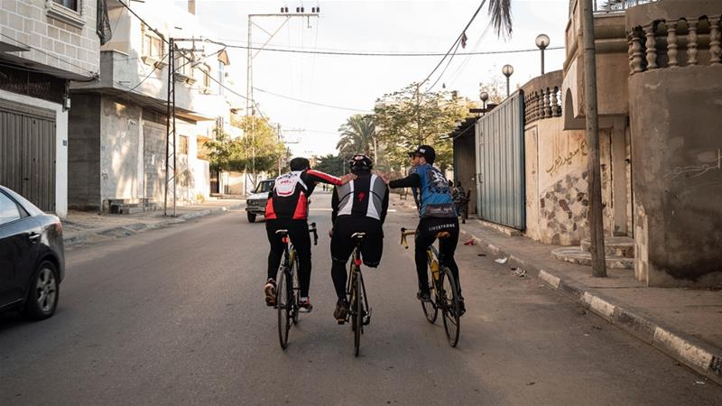 Riding, despite Gaza: Palestinian cycling champion Alaa al-Dali