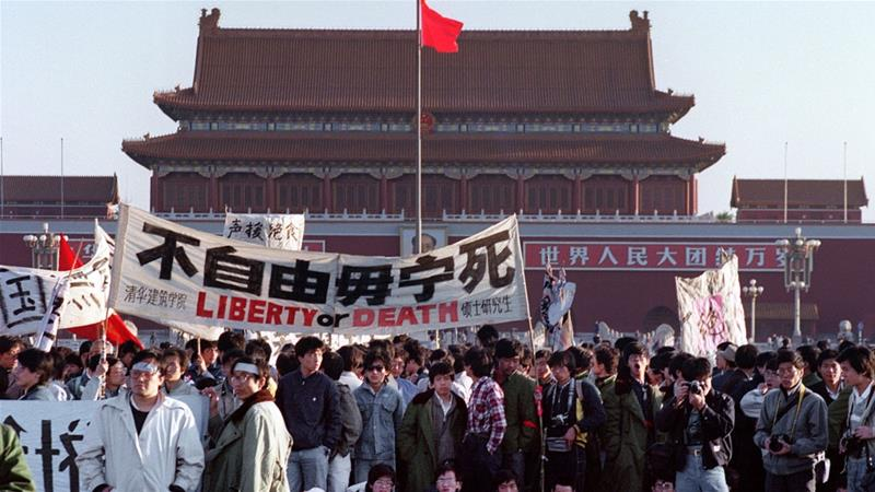 Pompeo urges China to free political prisoners to mark Tiananmen