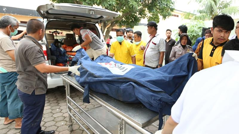 Bodies were taken to a police hospital and their identification is ongoing [Septianda Perdana/Antara Foto via Reuters]