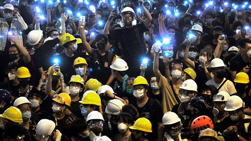 Hong Kong protests: Taking the streets, dominating the screens
