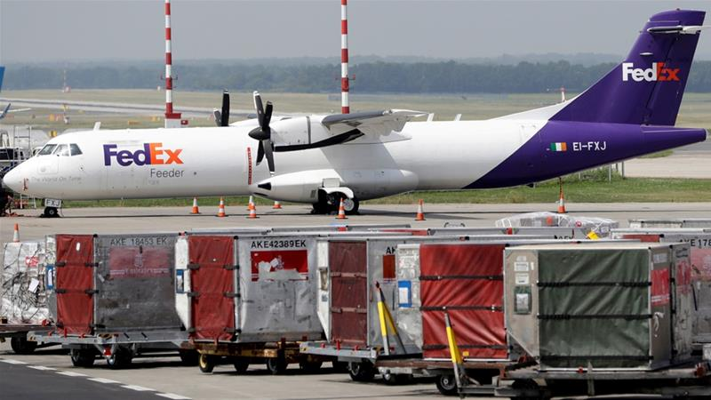 FedEx, in another error, missed delivery of a Huawei package to the US [File: David W Cerny/Reuters]