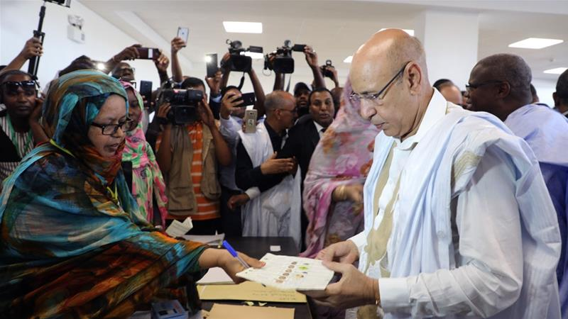 Mohamed Ould Ghazouani casts his ballot in Nouakchott, Mauritania [File: Elhady Ould Mohamedou/AP]