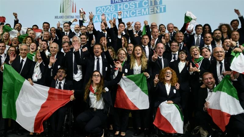 Milan-Cortina wins bid to host 2026 Winter Olympics