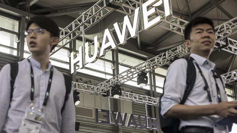 US officials accuse Huawei of facilitating Chinese spying, a charge the company denies, and see it as a growing competitor to US technology industries [Qilai Shen/Bloomberg]