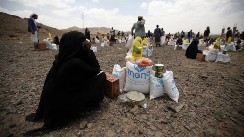 The UN feeds more than 10 million people a month across war-torn Yemen [Khaled Abdullah/Reuters]