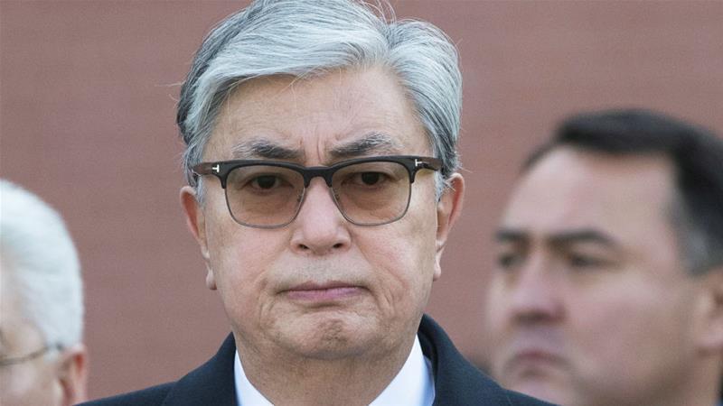 Kazakhstan President Kassym-Jomart Tokayev said the debt relief would cost less than $1bn [Pavel Golovkin/Pool/Reuters]