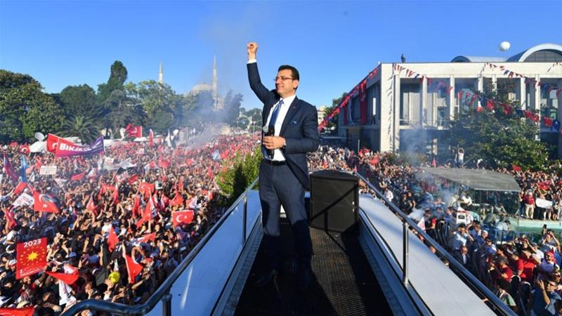 'The people of Istanbul taught a lesson to a handful of people who wanted to harm democracy,' Imamoglu told the crowd [Imamoglu's press office]