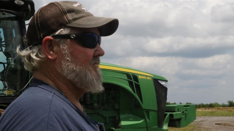 Arkansas farmer Robert Stobaugh says anxiety levels are high for US farmers due to the US-China trade war [Teresa Krug/Al Jazeera]