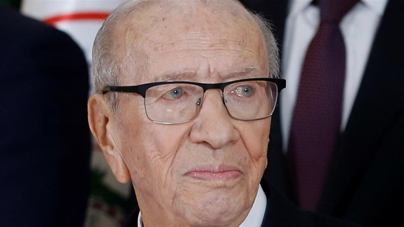 Essebsi won office in 2014, in the wake of the country's 2011 uprising that toppled autocratic leader Ben Ali [File: Zoubeir Souissi/Reuters]