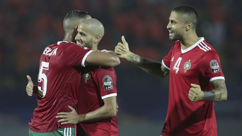 Morocco is the first team through from Group D [Hassan Ammar/AP]