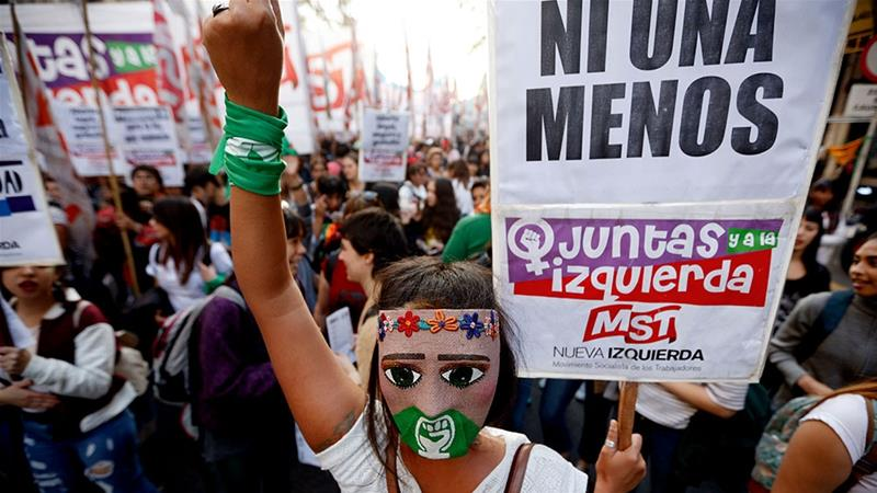 Argentina's Ni Una Menos turns focus to economic crisis, abortion
