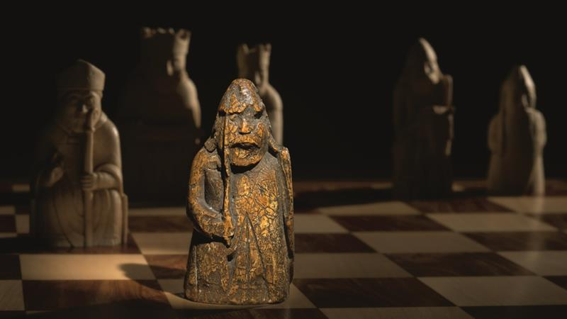 The Lewis Chessmen were discovered on Scotland's remote Hebridean island of Lewis in 1831 [Sotheby's handout]
