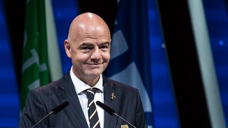 Infantino at the start of the 69th FIFA congress in Paris on June 5 [Christophe Petot Tesson/EPA]
