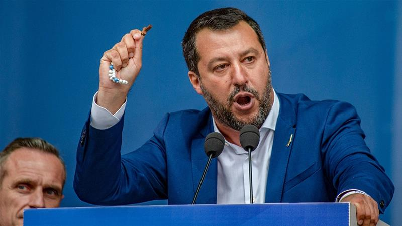 Italy's Matteo Salvani, leader of the country's populist Five Star Movement, plans to keep spending public money to boost the economy despite a growing mountain of debt [Bloomberg}