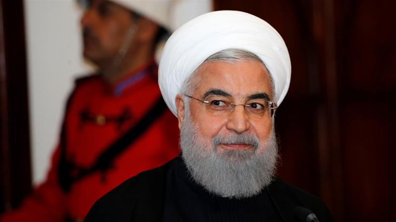 Iranian President Hassan Rouhani welcomed Qatar's stance as a 'policy of good neighbourliness ... aimed at reducing tensions'  [Thaier al-Sudani/Reuters]