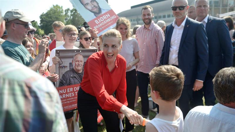 Mette Frederiksen is set to be a major winner in the Danish general elections [Tim K Jensen/Ritzau Scanpix/Reuters]