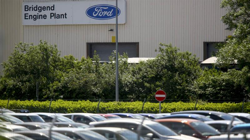 Previously announced job losses at Ford's Bridgend engine plant in South Wales are among 12,000 announced across Europe [Geoff Caddick/AFP]