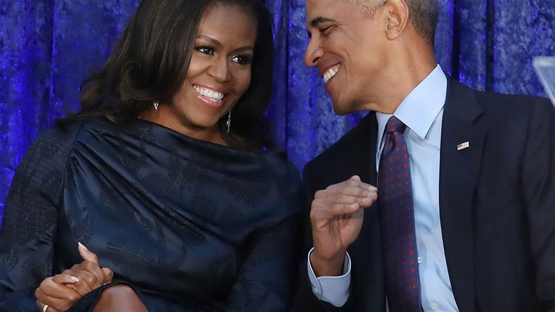 The Obamas are getting into the podcast business. Their production company, Higher Ground, will develop and produce content that aims to 'inspire people and give a voice to underrepresented people' for streaming media giant Spotify [Bloomberg]