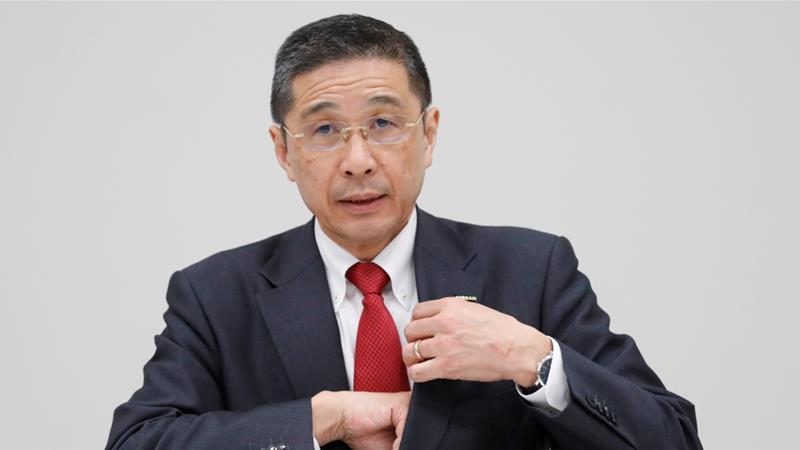 Nissan President and Chief Executive Officer Hiroto Saikawa's reported admission of receiving wrongful payment has raised questions about his ability to lead the financially-troubled company [File: Kim Kyung-Hoon/Reuters]
