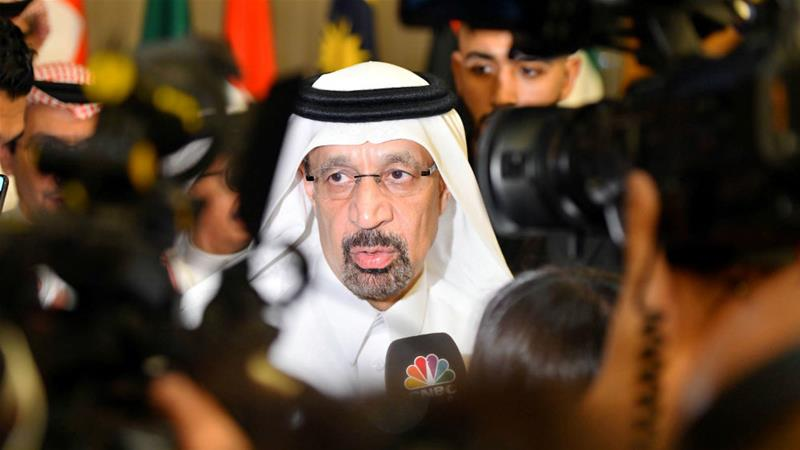 Saudi Energy Minister Khalid al-Falih said there was 'almost total alignment' between Riyadh and Moscow over oil prices [Waleed Ali/Reuters]
